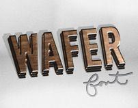 WAFER font - A free 3D font