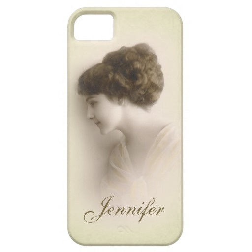 Beautiful Victorian Lady Portrait with Name #iPhone 5 Case #vintage #portrait $42.30
