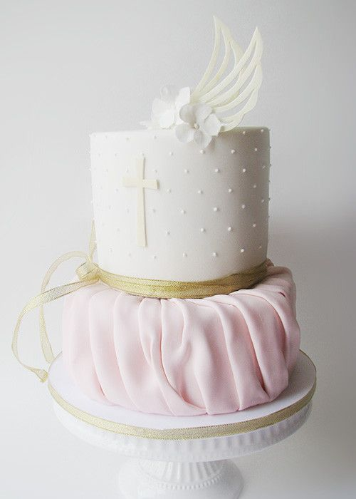 Christening Cake Design For Girl : Best 25+ Baptism cakes ideas on Pinterest Baby ...