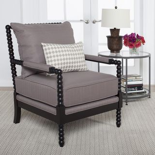 studio designs home colonnade spindle chair colonnade spindle chair dark taupe brown fabric spool chairspindle chairliving room - Chair For Living Room