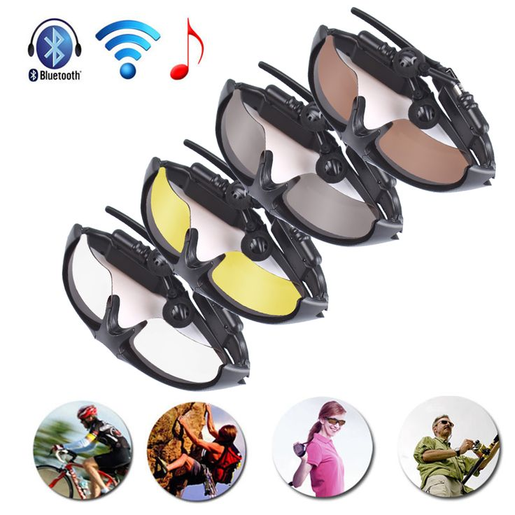 2 in 1 Wireless Bluetooth V4.1 Polarized Sports Sunglasses + HIFI Stereo Handsfree Music Headphone Headset