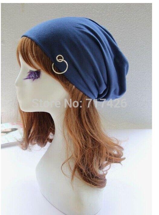 Fashion Korean Hip-hop Outdoor Hat Solid Outdoor Thin Cap With Hoop Ring Women Beanies /Men Beanies