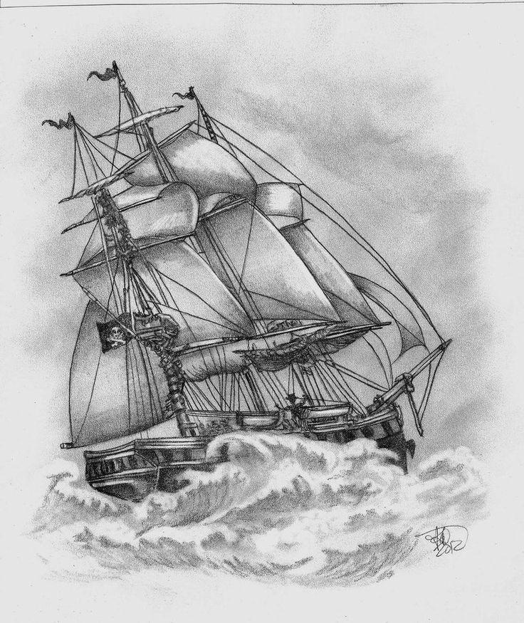 Segelschiff bleistiftzeichnung  Die 17 besten Bilder zu Boats in Arts Works auf Pinterest