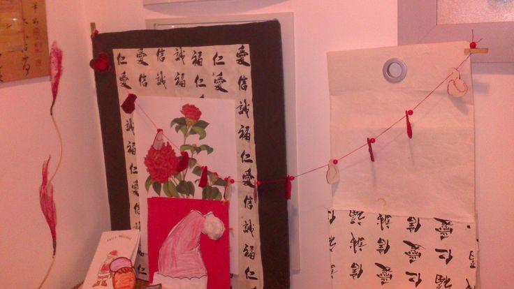 Decoraci n navide a paneles y lampara de papel artesano for Decoracion navidena artesanal