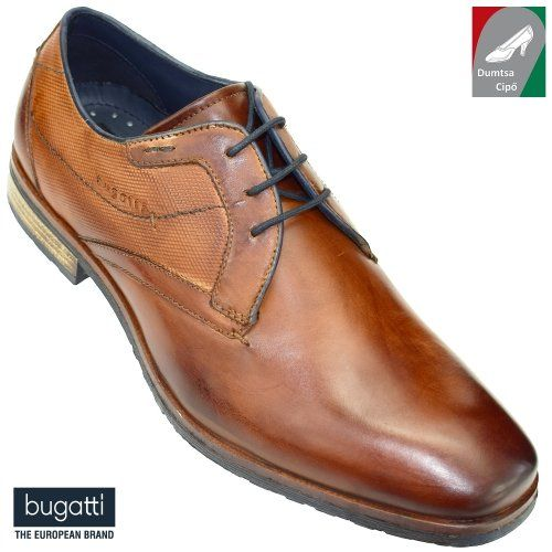 Bugatti férfi bőr cipő 311-37401-1100-6300 konyak