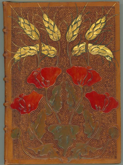 almaraye:  Minnie Sophia Prat (1868-1901). Binding for William Bradley, The Book of Ruth and the Book of Esther .