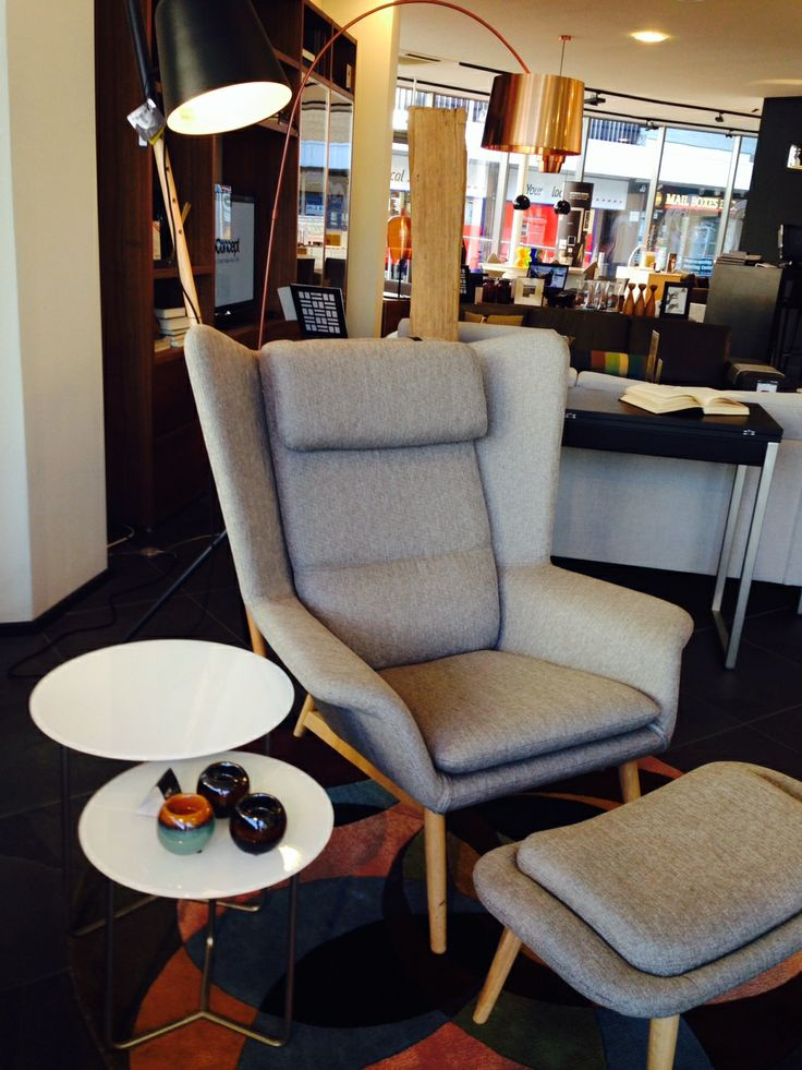 Create a comfortable reading nook with our exclusive Hamilton chair and footstool. Available in over 90 different fabrics and leathers!!! #cozy #readingnook #boconcept