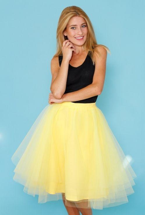 TUTU sukně Pavlova, žlutá