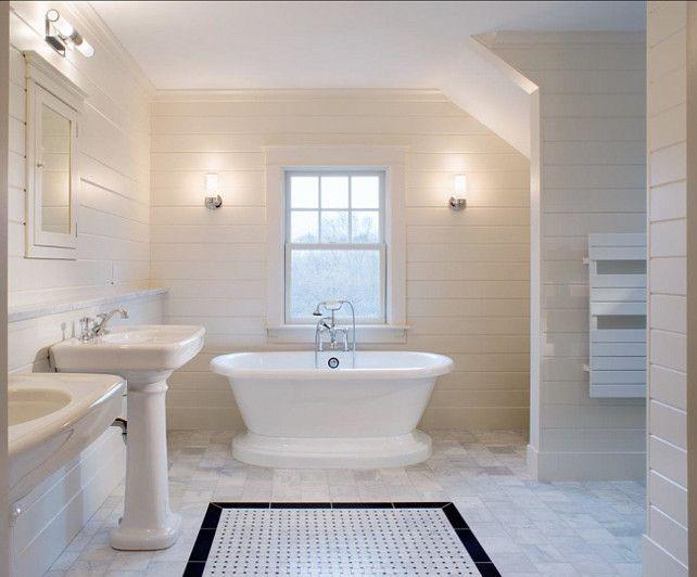 white stone floor bathroom
