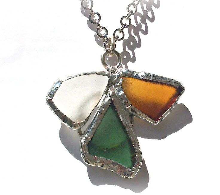 OOAK Greek islands souvenir Handmade/ Seaglass pendant angel shape /silver solder sea glass necklace/,ready to ship,gift for her by SueEllenDreamland on Etsy