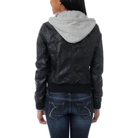 Obey Jealous Lover Girls Black & Grey Bomber Jacket