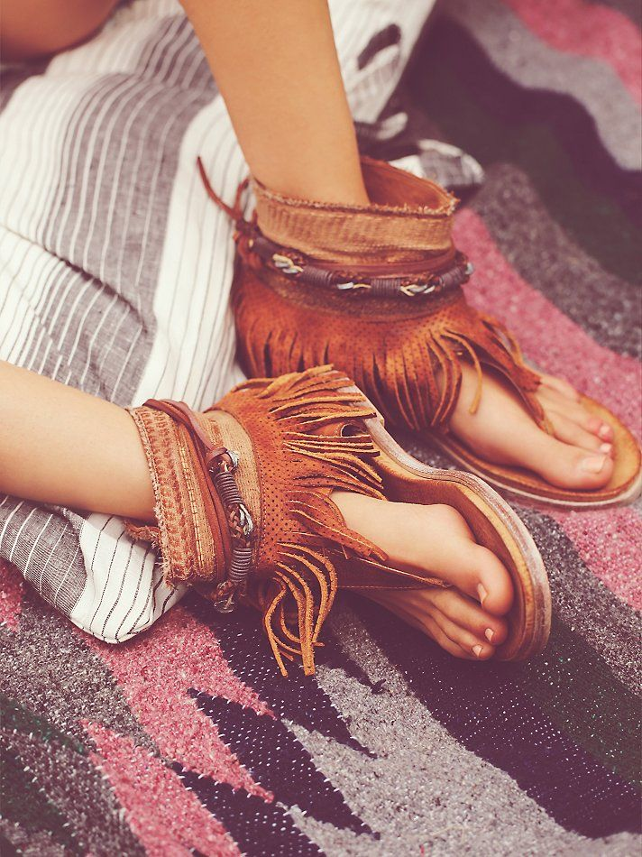 Free People Wonder Land Fringe Sandal at Free People Clothing Boutique