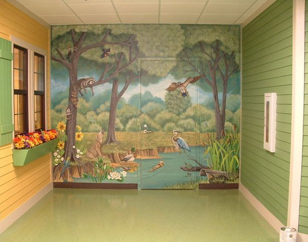 85 best enchanted forest project images on pinterest for Enchanted forest wall mural