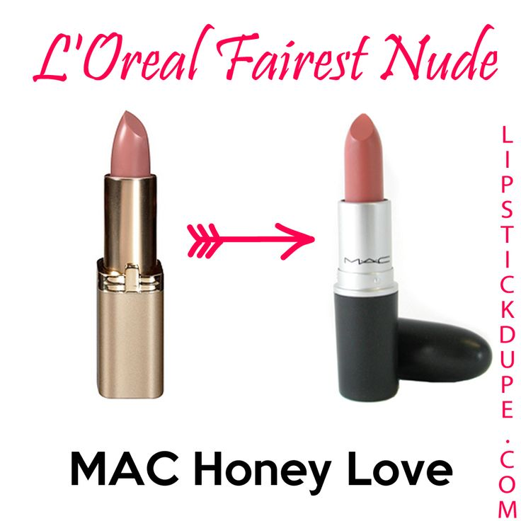 L'Oreal Fairest Nude dupe for MAC Honey Love (Wet n' Wild Bare It All) Dupes for Mac too