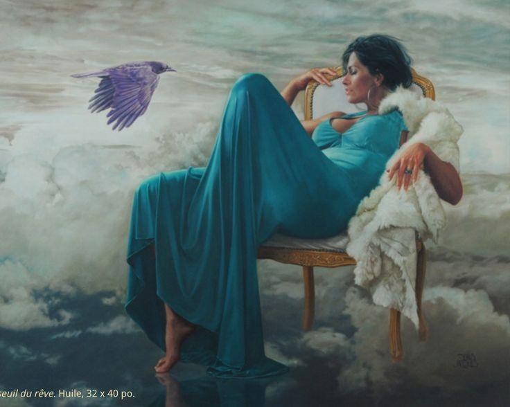 Denis Jacques oil painting