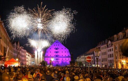 Abschlussfeuerwerk zum Spectaculum 2015 (Foto: Thomas Glaubitz)