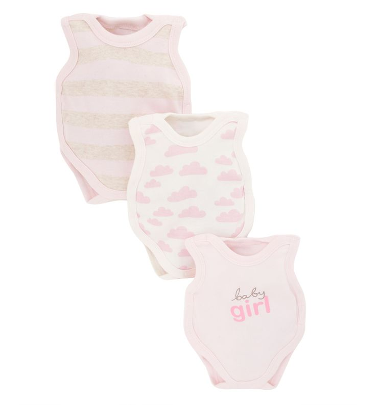 Mothercare Premature Baby Bodysuits - 3 Pack