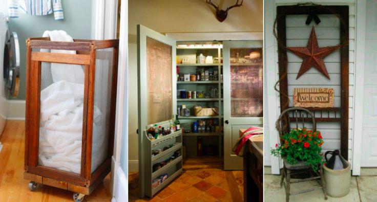 Recyclez des portes moustiquaires en bel objet déco