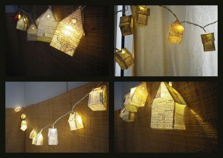 Guirlande Lumineuse Petites Maisons En Papier Luminaires Par