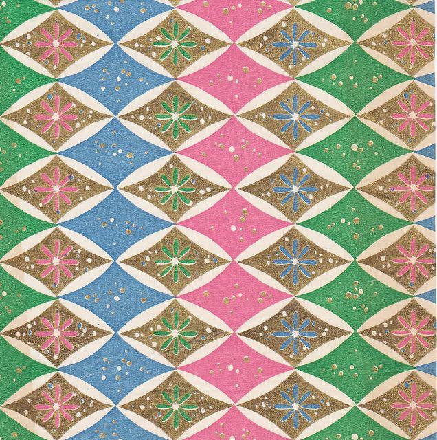 Vintage Gift Wrap Diamond Pattern by hmdavid, via Flickr