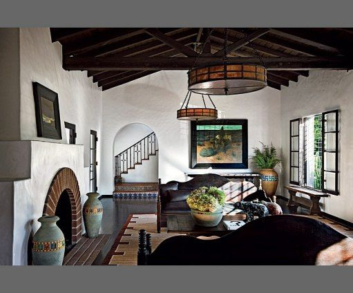 A gorgeous collection fo California art and design in Diane Keaton's home.