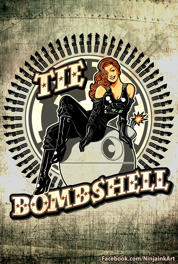 that's no moon...Nose Art, 50 Style, Star Wars, Pin Up Art, Noseart, Stars Wars, Ties Bombshell, Pinup, Starwars
