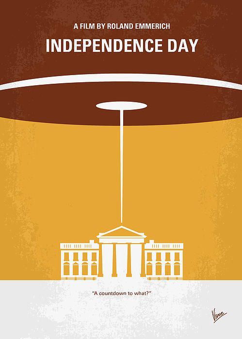 No249 My Independence Day Minimal Movie Poster by Chungkong Art on Fine Art America