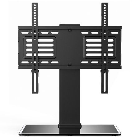 Fitueyes Universal Swivel TV Stand for 32 40 45 50 inch Sony Lg Apple Flat Screen LED LCD TVs TT104801GB, Black