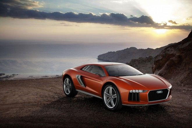What has two doors, four-wheel drive, and more torque than a Caterpillar Earthmover? The Audi Nanuk concept. While the race-derived diesel 5.0L V10 is only good for a paltry 544 horsepower, like all diesels, it's about torque, and the Nanuk packs 738 pound-feet of the stuff. Combined with a specially tuned Quattro all-wheel-drive system and a 4,189-pound curb weight,  0-60 MPH run of 3.8 seconds and a top speed knocking on 190 MPH, all while returning over 30 miles per gallon.