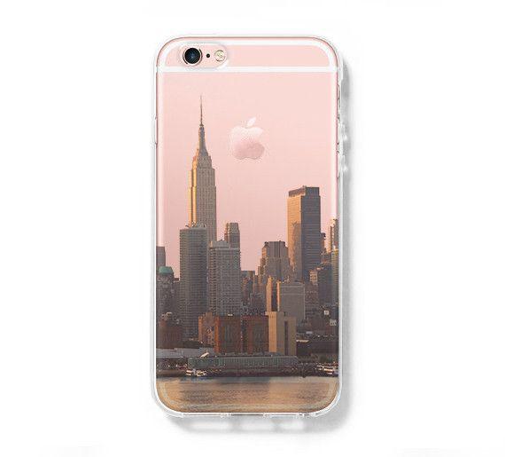 New York Cityscape iPhone 6S case iPhone 6 plus Case iPhone 5s 5 Case iPhone 5C Clear Case C0001