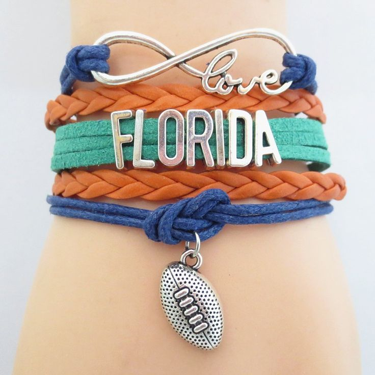 Infinity Love University of Florida Football Wrap Bracelet