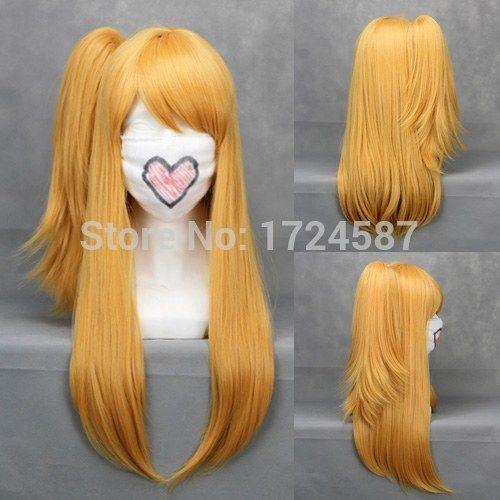 Pas cher Rapunzel blonde Ponytail beauté naturelle synthétique cheveux Lucy droite halloween anime Cosplay perruques livraison gratuite, Acheter  Perruques de qualité directement des fournisseurs de Chine: