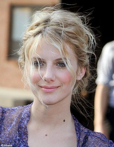 Melanie Laurent Wild wedding hair