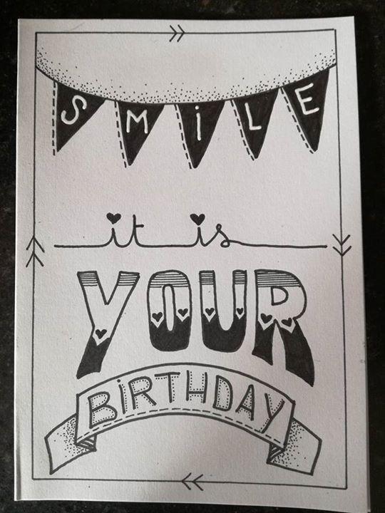 Afbeeldingsresultaat voor handlettering kaarten verjaardag