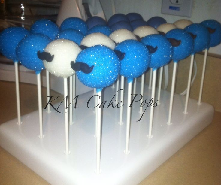 Mustache Cake Pops for Father's Day