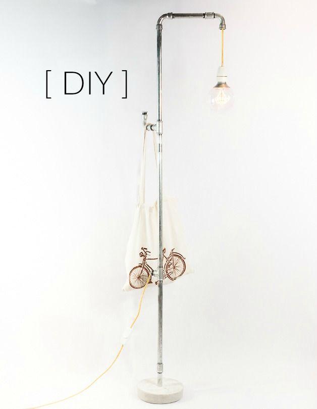 Stehlampe Selber Machen Aus Rohren Im Industrial Style Diy