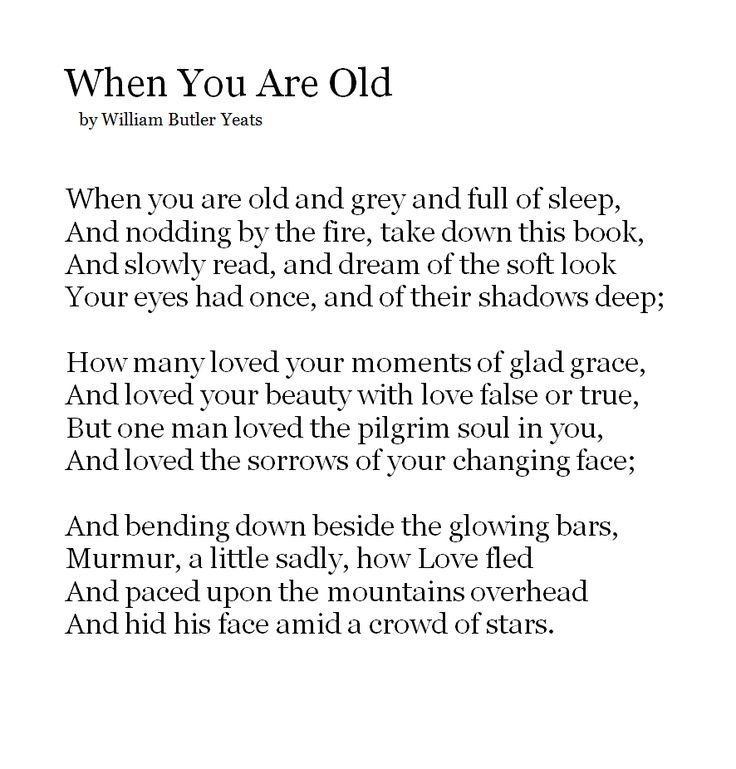 """the theme of unrequited love in when you are old by william butler yeats The william butler yeats is one of the most popular assignments  in his poem """"when you are old"""" remind us about a person who loved  unrequited love,."""