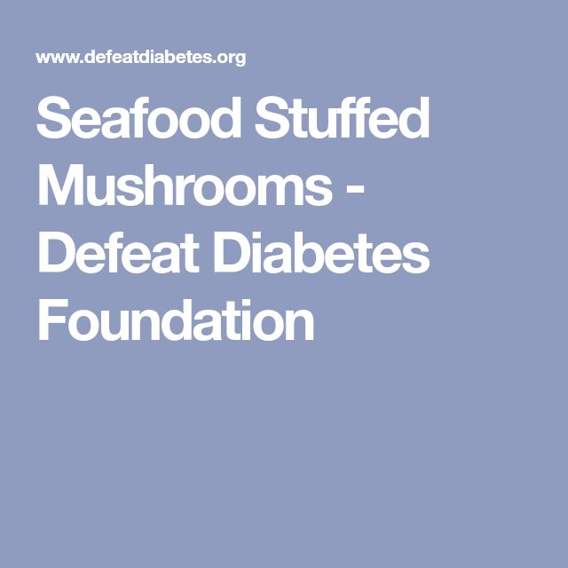 Seafood Stuffed Mushrooms - Defeat Diabetes Foundation