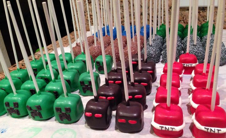 Mine craft cake pops! Sweetly done by Candi