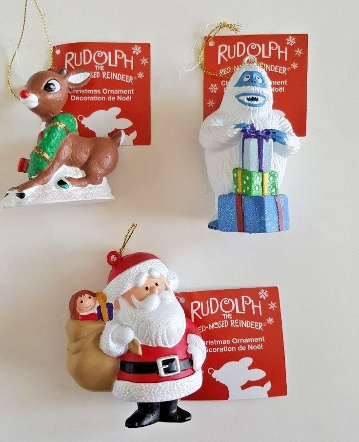 Christmas Ornaments Rudolph Reindeer Santa Claus Abominable Snowman  Kurt Adler #KurtAdler