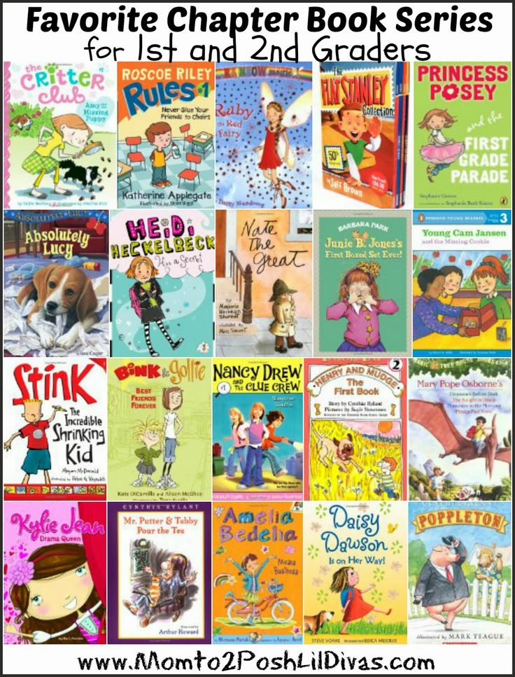 favorite chapter book series for children in 1st and second grade