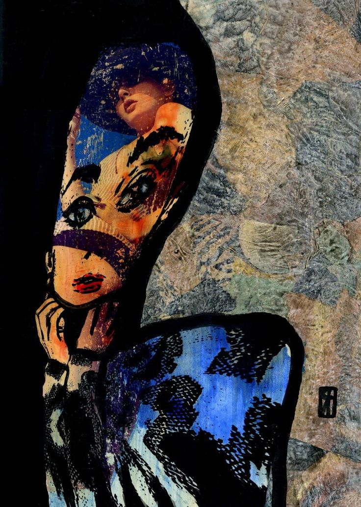13- KARMA. Audrey  Hepburn (Pintura),  30x21 cm por Cris ACQUA Tecnicas mixtas.