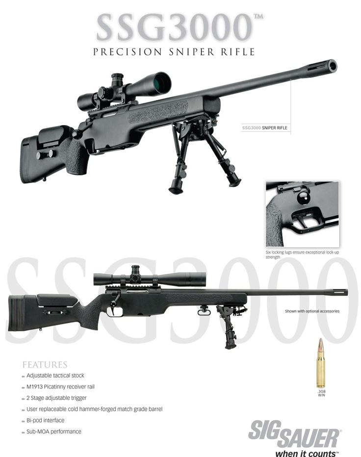 Sig Sauer SSG3000 .308 Sniper Rifle