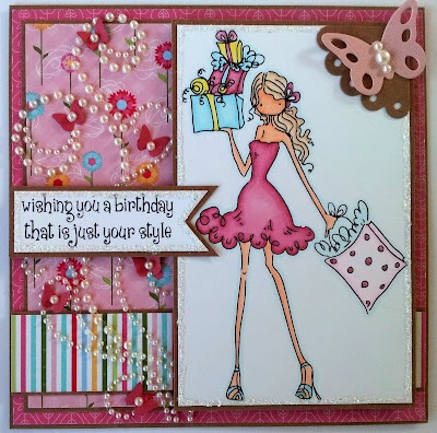 Made by Kitty Frampton for My Mums Craft Shop using Stamping Bella Uptown Girls http://kittyskrafty.blogspot.co.uk/