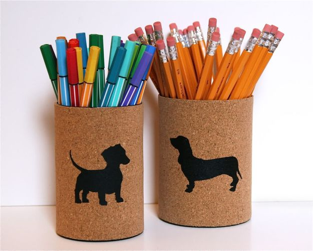 27. Cork-Wrapped Pencil Holders | From Drab To Fab: 48 DIYs For Average Tin Cans