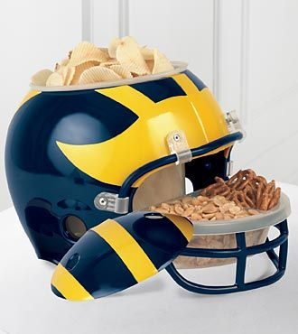 Want it! University of Michigan™ Wolverines™ Football Snack Helmet  #goblue #makingmehungry