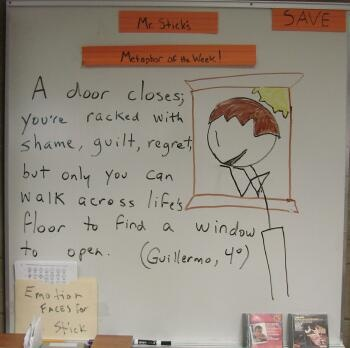 7th grader Guillermo worked very hard on perfecting the language of this metaphor.