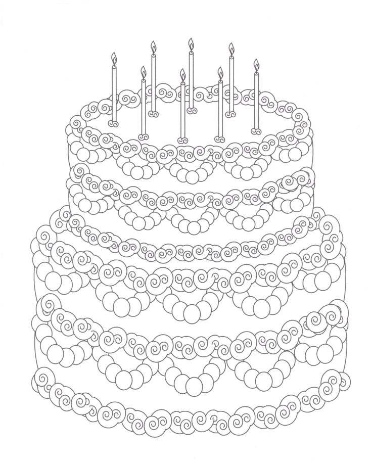 free coloring pages of t cake blank birthday cake coloring