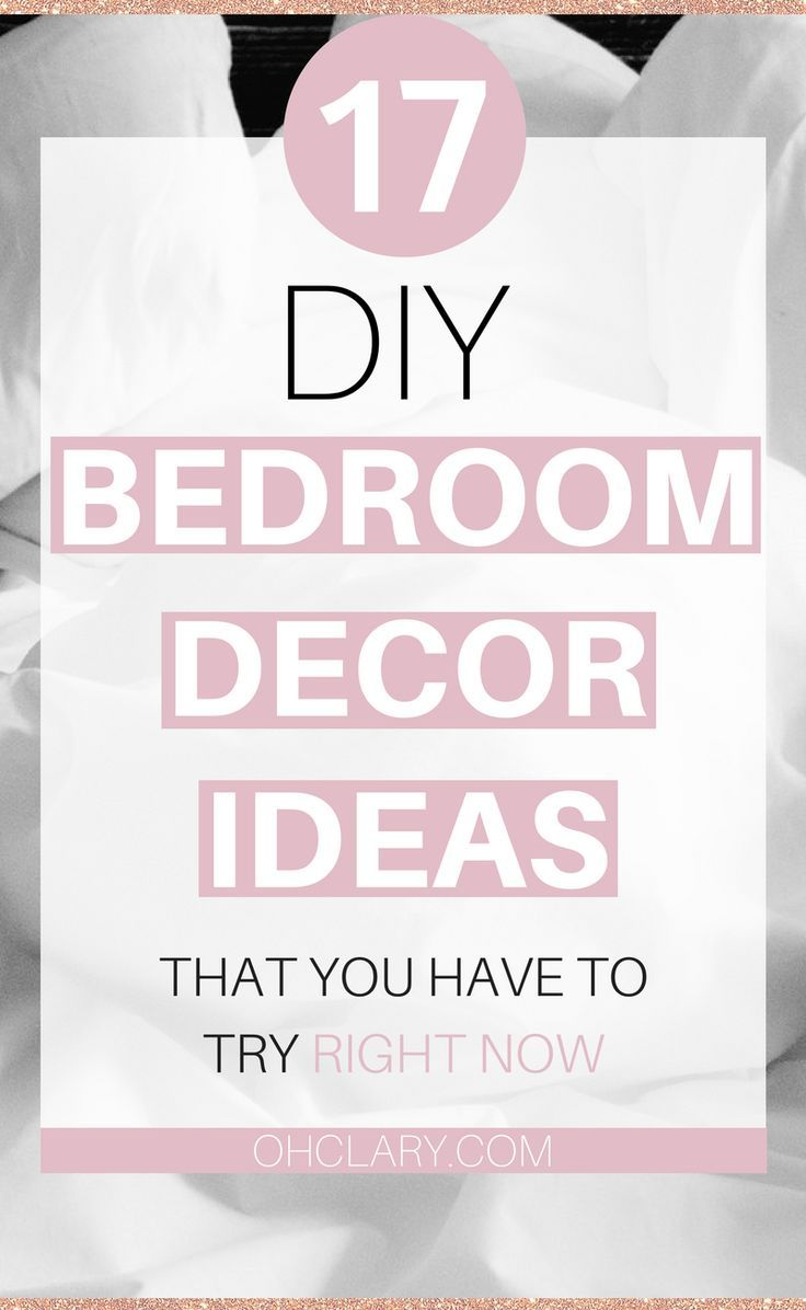 Who doesn't love a beautiful bedroom? These 17 Inexpensive DIY Bedroom Ideas will help you create the bedroom of your dreams on a budget! From beautifully tufted headboards on the cheap to cozy pom pom rugs, this list has it all to make your bedroom the coziest place on earth!! diy bedroom ideas #bedroomideas #bedroomdiy #diyhomedecor #diyhome #diyproject #