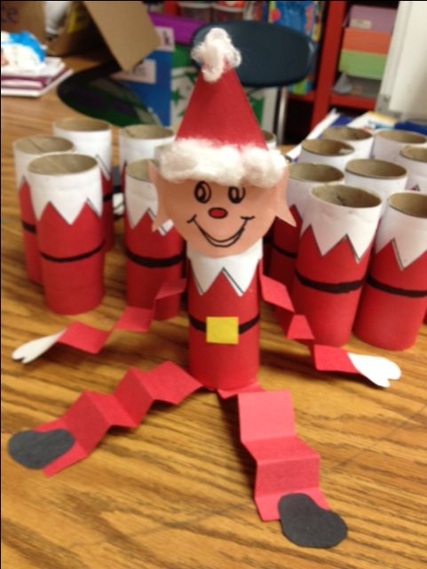 * Have students make an elf they can bring home!